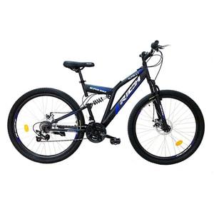 """Bicicleta de munte RICH R2750D, 27.5"""", cadru otel, negru-albastru"""