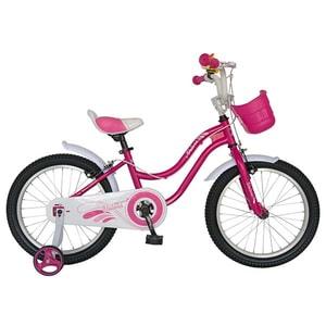 "Bicicleta copii VELORS V1802A, 18"", otel, fucsia-alb"