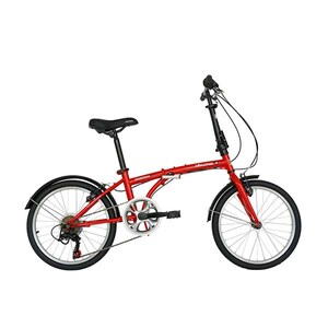 "Bicicleta pliabila VELORS Advantage V2054B, 20"", cadru otel, rosu-alb"
