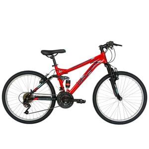 """Bicicleta MTB VELORS 2060A, 20"""", otel, rosu-negru"""