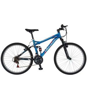 """Bicicleta Mountain Bike VELORS 2460A, 24"""", cadru otel, albastru-negru"""