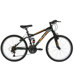 """Bicicleta Mountain Bike VELORS 2460A, 24"""", cadru otel, negru-portocaliu"""