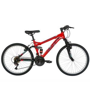"""Bicicleta Mountain Bike VELORS 2460A, 24"""", cadru otel, rosu-negru"""