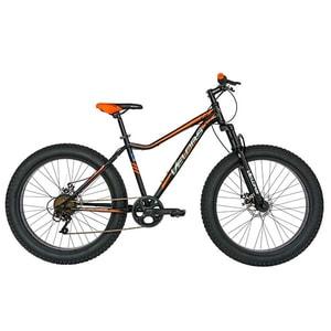"""Bicicleta FAT BIKE VELORS V2605A, 26"""", cadru otel, negru-portocaliu"""