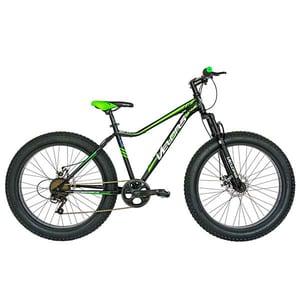 """Bicicleta FAT BIKE VELORS V2605A, 26"""", cadru otel, negru-verde"""