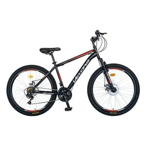 """Bicicleta de munte VELORS V2609A, 26"""", cadru otel, negru-rosu"""