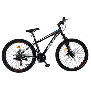 """Bicicleta de munte VELORS V2610A, 26"""", cadru otel, negru-alb -portocaliu"""