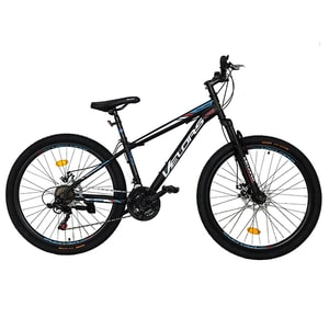 """Bicicleta de munte VELORS V2610A, 26"""", cadru otel, negru-alb -rosu"""