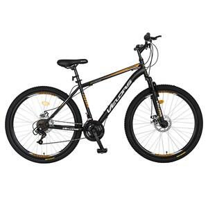 """Bicicleta de munte VELORS V2709A, 27.5"""", cadru otel, negru-portocaliu"""