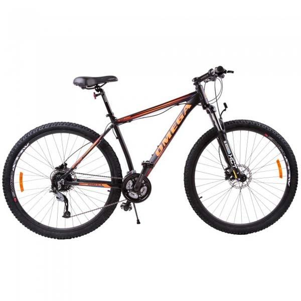 "Bicicleta Mountain Bike OMEGA Bettridge, 29"", negru-portocaliu"