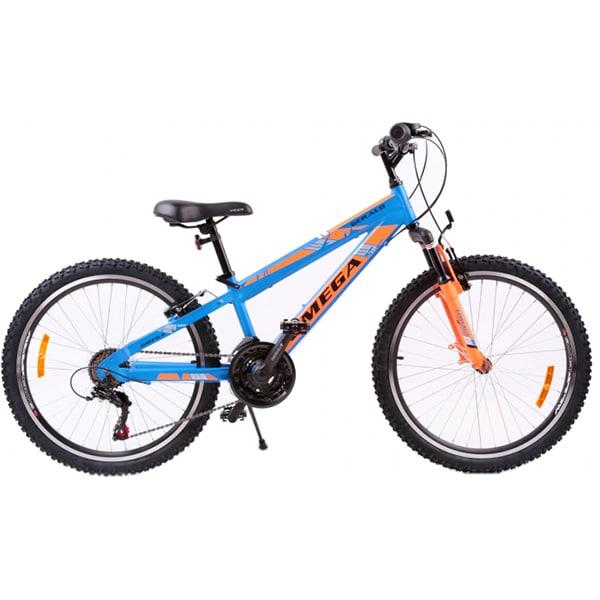 "Bicicleta de copii Mountain Bike OMEGA Gerald, 24"", albastru"