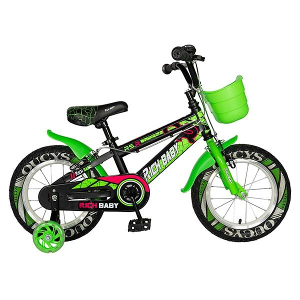 """Bicicleta copii RICH R16WTB, 16"""", verde"""