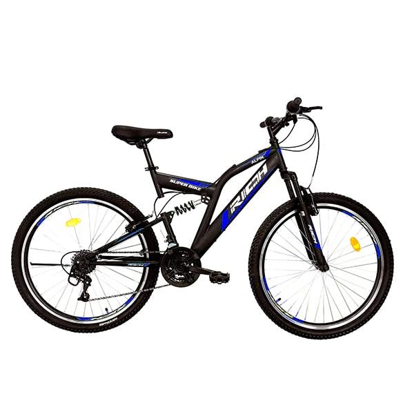 """Bicicleta de munte RICH R2649A, 26"""", cadru otel, negru-albastru"""