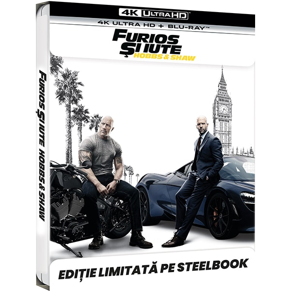 Furios si iute: Hobbs & Shaw Steelbook 4K + Blu-ray
