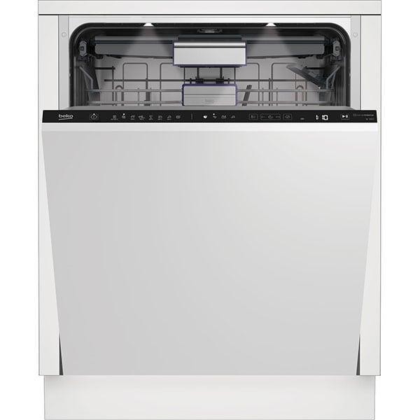 Masina de spalat vase incorporabila BEKO BDIN38531D, Hygiene Shield, 15 seturi, 8 programe, 60 cm, Clasa D, negru