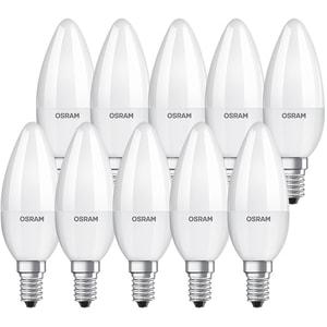 Set 10 becuri LED OSRAM B40, 5.7W, E14, 2700K