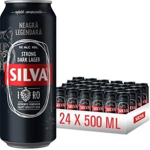 Bere neagra Silva Larger bax 0.5L x 24 cutii