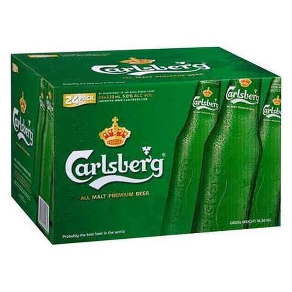 Bere blonda Carlsberg bax 0.33L x 24 sticle