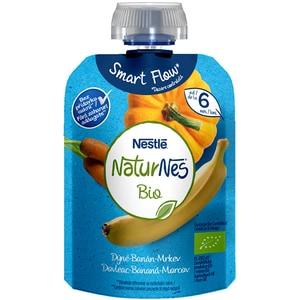 Piure NESTLE NaturNes Bio cu dovleac, banana si morcov 12428716, 6 luni+, 90g