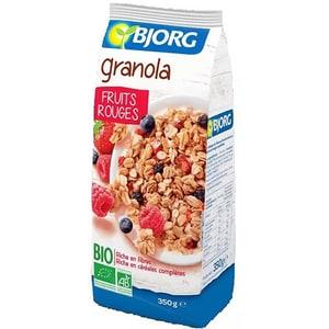 Granola fructe rosii BIO BJORG, 350g