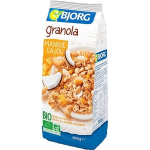 Granola mango si caju BIO BJORG, 350g