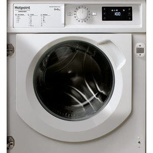 Masina de spalat rufe incorporabila cu uscator HOTPOINT BIWDHG961484EU, 9/6 kg, 1400rpm, Clasa D, alb