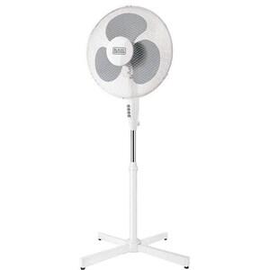 Ventilator cu picior BLACK & DECKER BXEFP40E, 3 trepte viteza, 40cm, 40W, alb