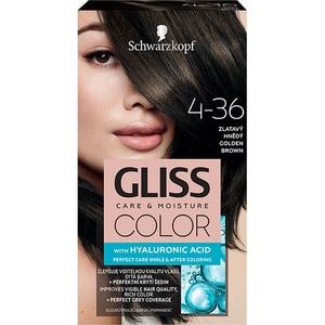 Vopsea de par SCHWARZKOPF Gliss Color, 4-36 Saten Auriu, 143ml