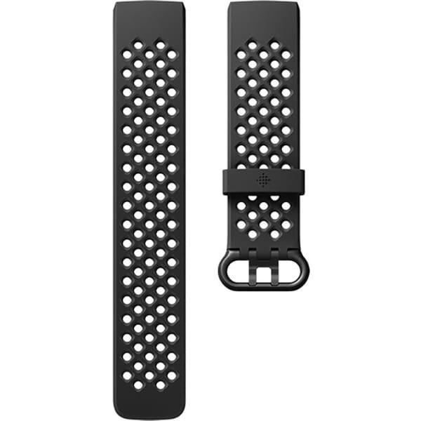 Bratara pentru FITBIT Charge 3 FB168SBBKL, Sport, Large, silicon, Black