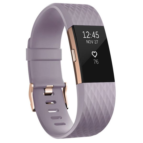Bratara fitness FITBIT Charge 2, Android/iOS, Large, Lavender Rose Gold