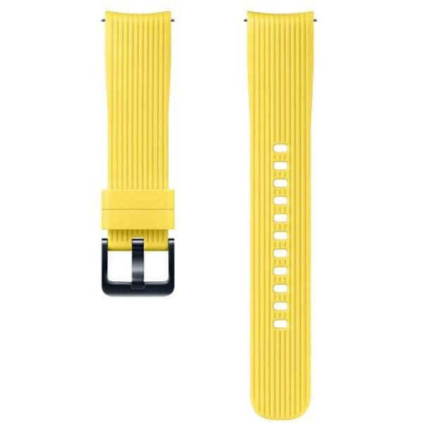 Bratara pentru SAMSUNG Galaxy Watch, ETYSU81MYEGWW, 42mm, silicon, galben
