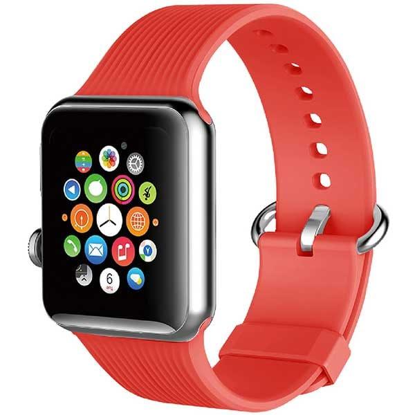 Bratara pentru Apple Watch 38mm/40mm, PROMATE Silica-38, silicon, rosu
