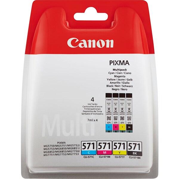 Cartus CANON Pixma CLI-571 BK / C / M / Y Multi Pack