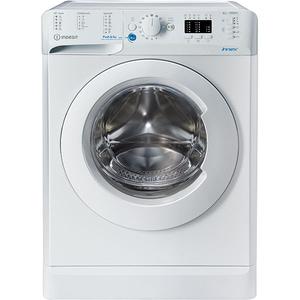 Masina de spalat rufe frontala slim INDESIT BWSA 61051 W EU N, 6 kg, 1000rpm, Clasa F, alb