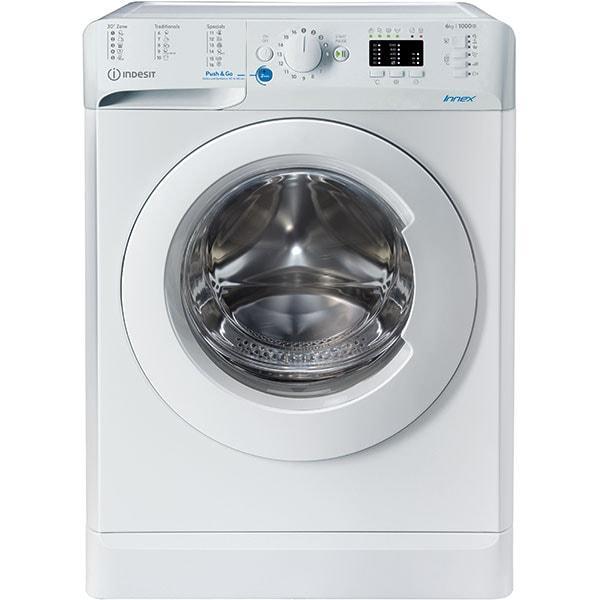 Masina de spalat rufe frontala INDESIT BWSA 61051 W EU N, 6 kg, 1000rpm, Clasa F, alb