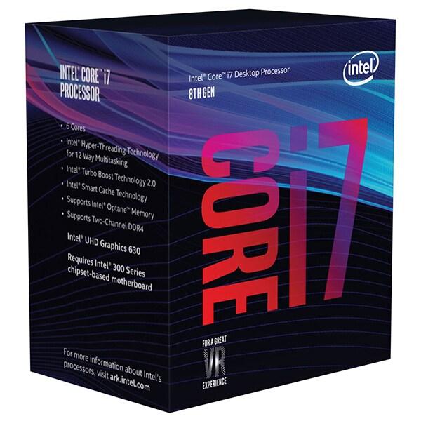 Procesor Intel Core i7-8700, 3.2GHz/4.6GHz, Socket 1151, BX80684I78700