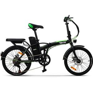 Bicicleta electrica pliabila RKS MX35, 20 inch, negru-verde