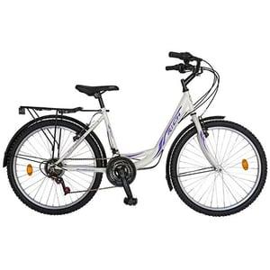 """Bicicleta de sosea RICH City R2432A, 24"""", cadru otel, alb-violet"""