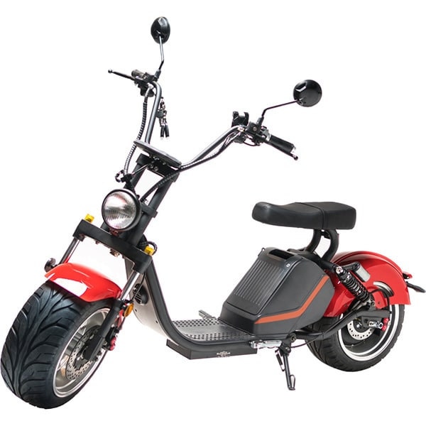 Moped electric FREEWHEEL MotoRo M1, 13 inch, rosu