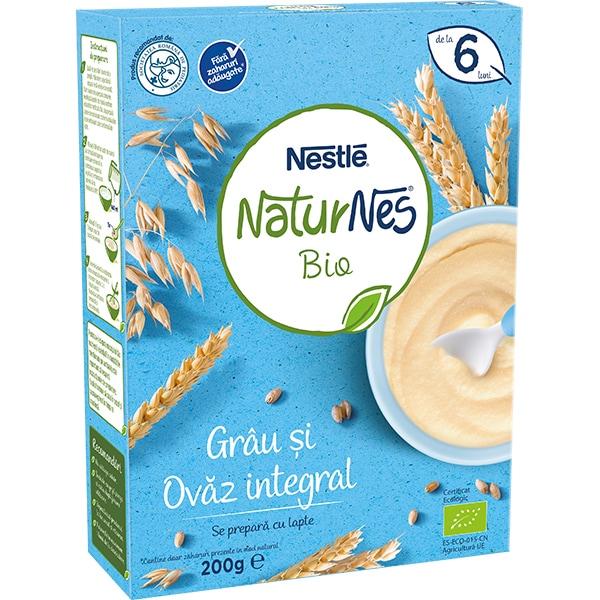 Cereale NESTLE Naturnes Bio Grau si ovaz integral 12396390, 6 luni+, 200g