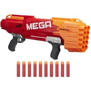 Blaster NERF N-Strike Mega TwinShock B9894, 8 ani+, multicolor