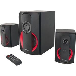 Boxe HAMA PR-2180, 2.1, 80W, Bluetooth, negru-rosu