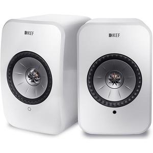 Boxe KEF LSX, 200W RMS, Bluetooth, Wi-Fi, alb