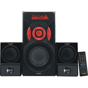 Boxe MYRIA MY8044, 2.1, 60W, Bluetooth, negru-rosu