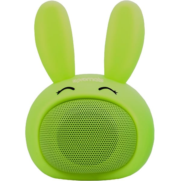Boxa portabila pentru copii, PROMATE Bunny, Bluetooth, verde
