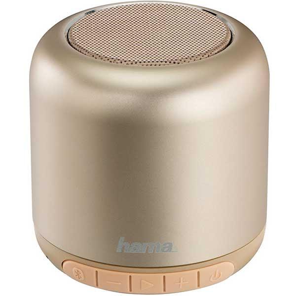 Boxa portabila HAMA Steel Drum 173180, Bluetooth, auriu