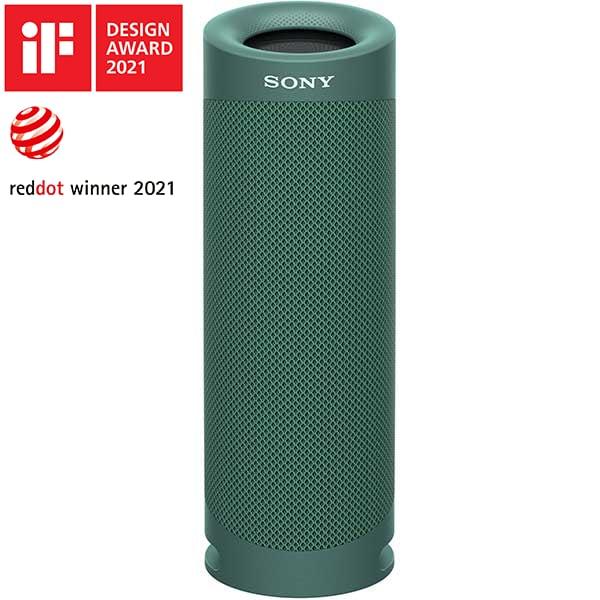 Boxa portabila SONY SRS-XB23, EXTRA BASS, Bluetooth, Wireless, Party Connect, Waterproof, verde