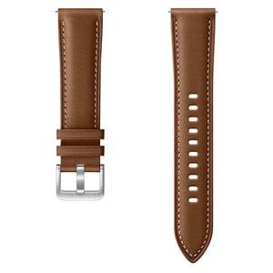 Bratara Stitch Leather Band pentru SAMSUNG Galaxy Watch3, ET-SLR85SAEGEU, Small-Medium, piele, maro