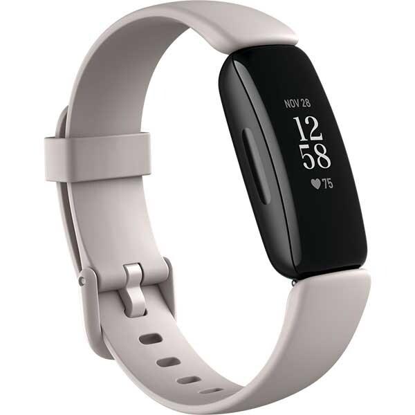 Bratara fitness FITBIT Inspire 2, Android/iOS, silicon, Lunar White