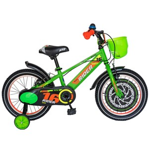 "Bicicleta copii CARPAT C1607C, 16"", verde-portocaliu"